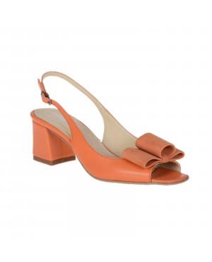 Sandale dama Saray toc mic, orange-sau Orice Culoare