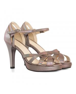 Sandale bronz din piele naturala Darling D10 - sau orice culoare