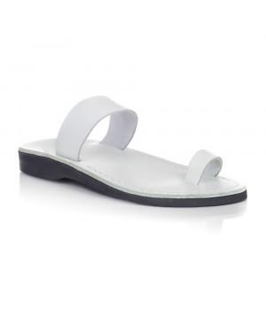 Sandale piele naturala Minimal Albe