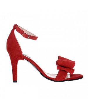 Sandale rosii piele intoarsa Gloria S45 - sau Orice Culoare