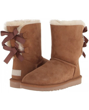 Cizme Piele Tip UGG Scurt bailey bow Camel