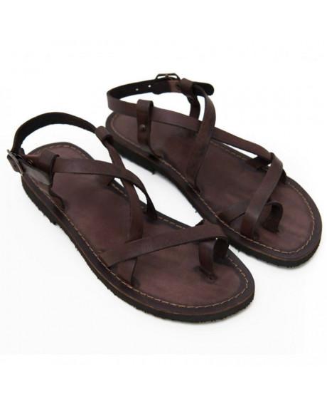 Sandale piele Betina maro