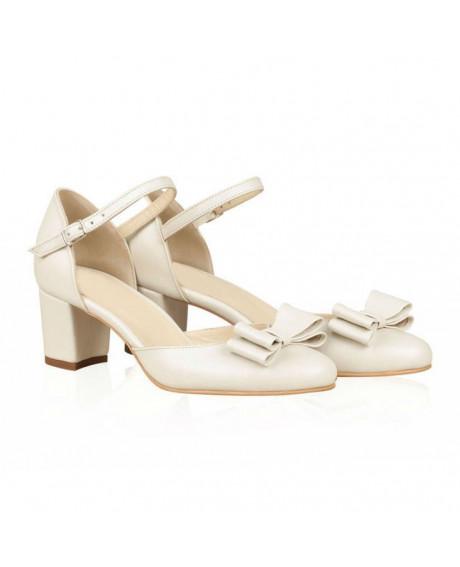Pantofi mireasa din piele naturala Teo N65 - sau Orice Culoare