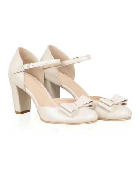 Pantofi mireasa din piele naturala Diane N60 - sau Orice Culoare