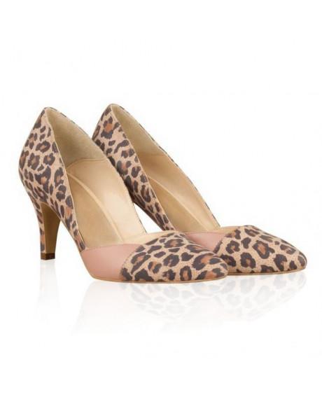 Pantofi piele animal print Meda N5 - sau Orice Culoare