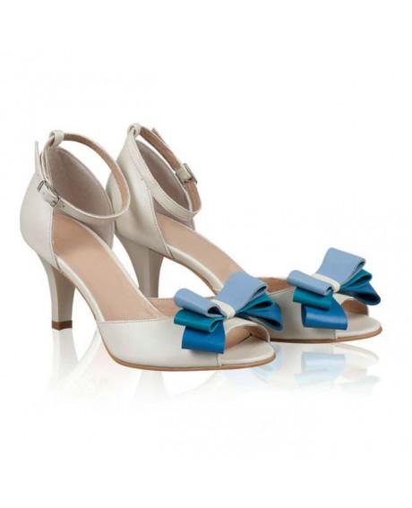 Sandale dama Diva cu fundite - N104 - sau Orice Culoare