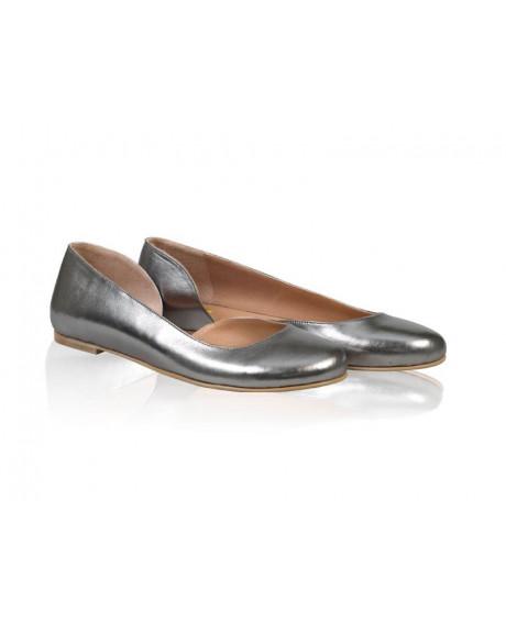 Balerini piele naturala Metalic N100 - sau Orice Culoare