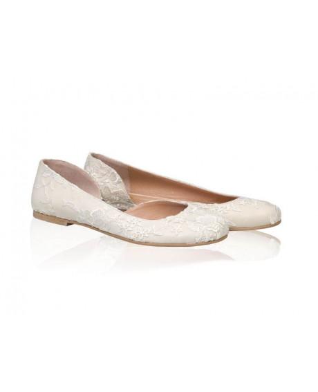 Balerini dama - Model AF 3 Bride Dantela-sau Orice Culoare