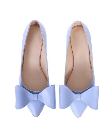 Balerini blue din piele naturala Sara S15 - sau Orice Culoare