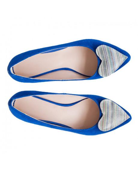 Balerini piele naturala albastra Love D10 - sau Orice Culoare