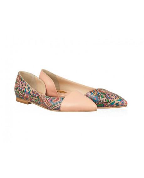 Balerini nude ART multicolor N001 - sau Orice Culoare