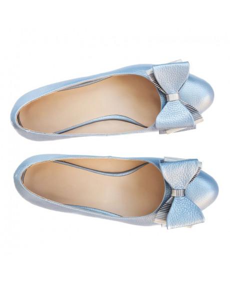 Balerini piele naturala blue Fashion D102 - sau Orice Culoare