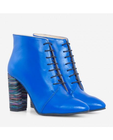 Botine albastre din piele naturala Renata D70 - sau Orice Culoare