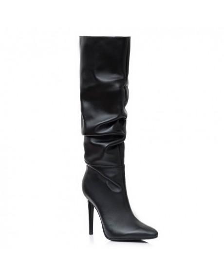Cizme negre din piele naturala Style S55 - sau Orice Culoare