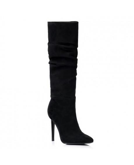 Cizme negre din piele intoarsa Style S70 - sau Orice Culoare