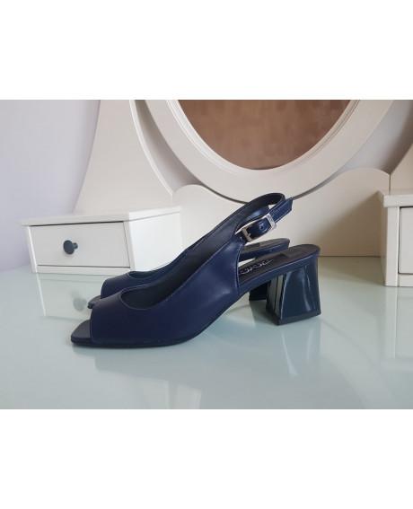 Sandale Saray din piele naturala Bleumarin - marimea 36