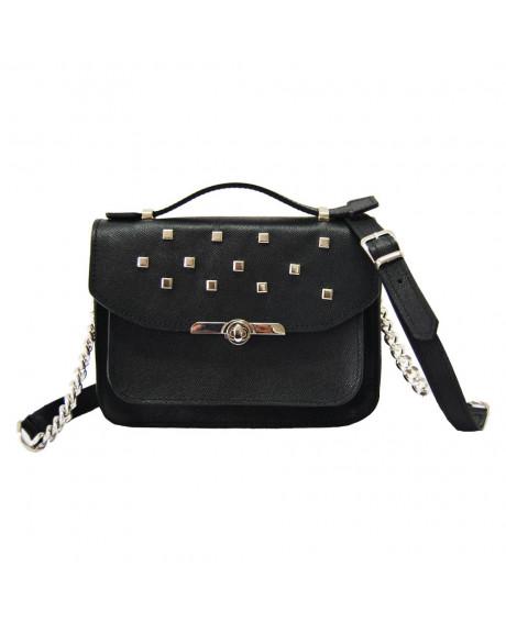 Geanta Fashion Neagra din piele cu capse G A 7-sau Orice Culoare