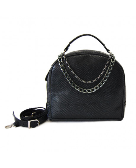 Geanta din piele naturala Style cu presaj negru - G133 - sau Orice Culoare