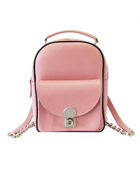 Geanta din piele naturala Rocco roz pudra - G145 - sau Orice Culoare