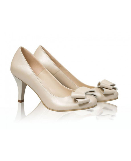 Pantofi mireasa - Tania Bej Sidef-sau Orice Culoare