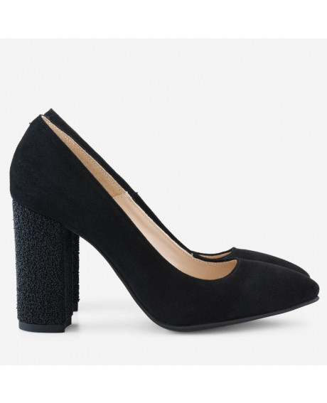 Pantofi Stilettos Flor negri D09