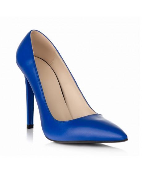 Pantofi albastri din piele naturala Stiletto All Day S33