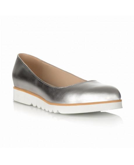 Pantofi argintii cu talpa joasa Martin S11 - sau Orice Culoare