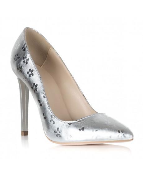 Pantofi argintii Fabulous Star S101