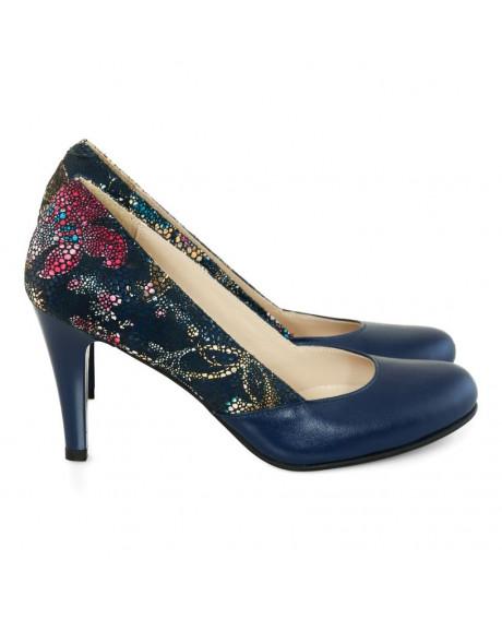 Pantofi piele bleumarin Luisa D05 - sau Orice Culoare