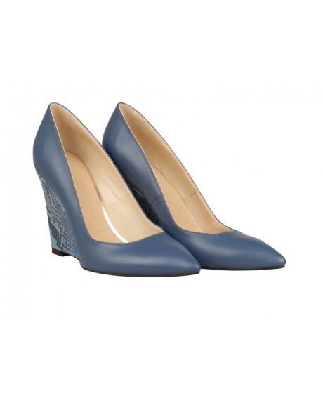 Pantofi bleumarin din piele naturala Celia N75 - sau Orice Culoare