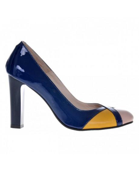 Pantofi bleumarin din piele naturala Cromatic S25 - sau Orice Culoare