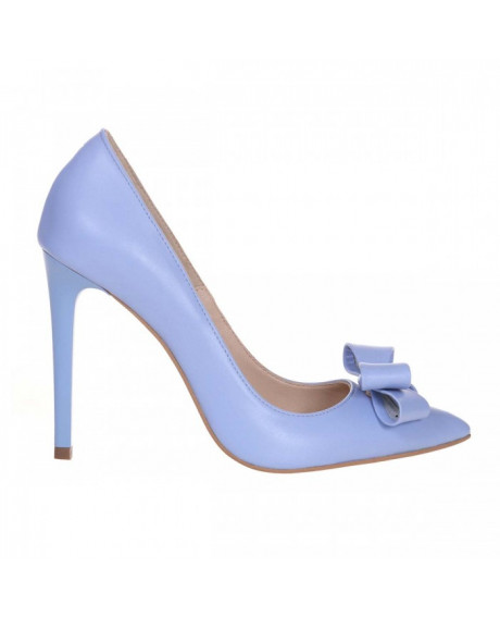 Pantofi Stiletto blue din piele naturala Clare S21 - sau Orice Culoare