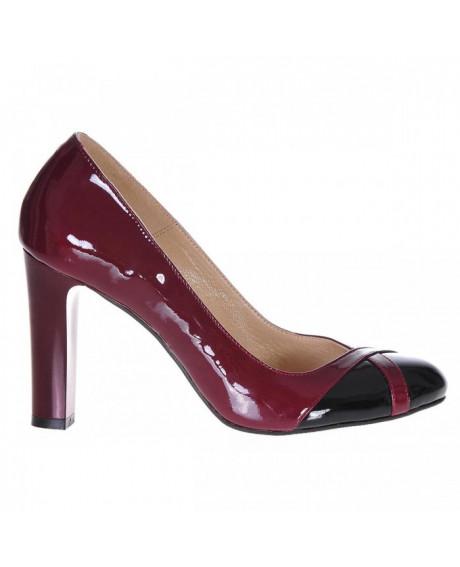 Pantofi bordo din piele naturala Cromatic S10 - sau Orice Culoare