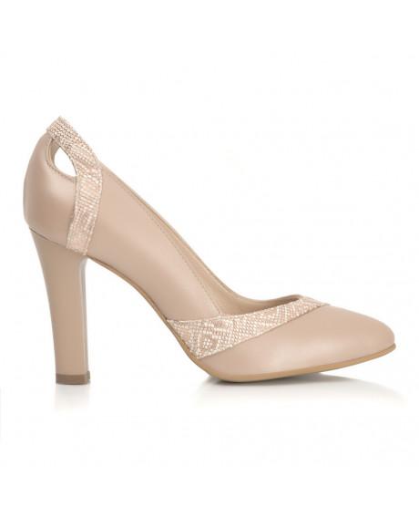 Pantofi cappuccino din piele naturala Eden S33 - sau Orice Culoare