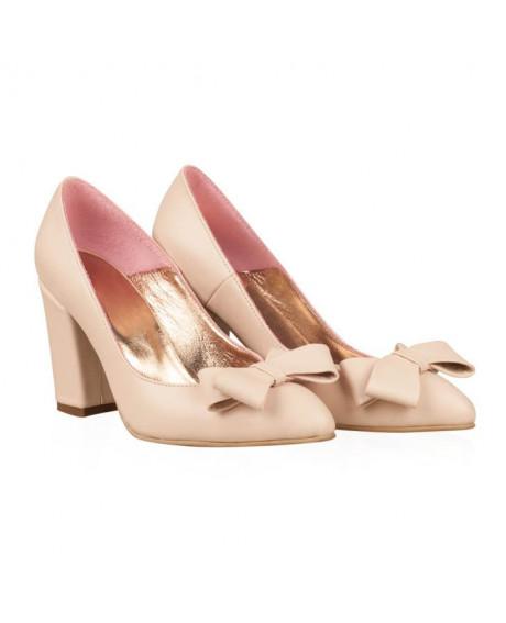 Pantofi nude Stiletto Elvire N77