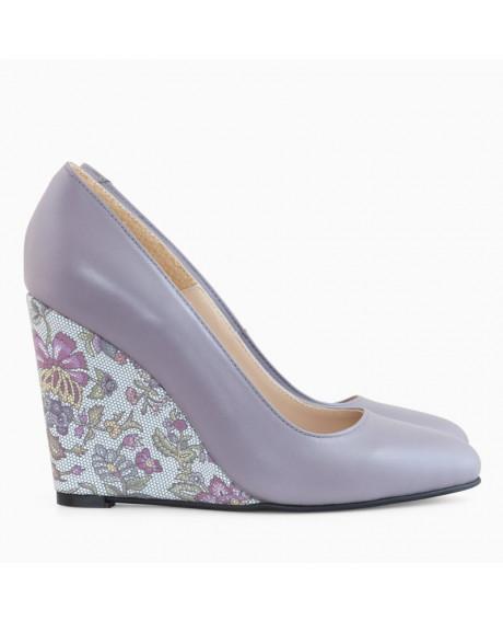 Pantofi cu toc ortopedic Naty Lila D30