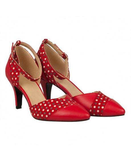 Pantofi dama Evy cu buline N1 - sau Orice Culoare