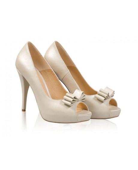 Pantofi mireasa - AF1 Bej Sidef-sau Orice Culoare