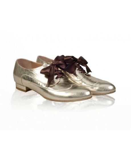 Pantofi talpa joasa aurii N2-sau Orice Culoare