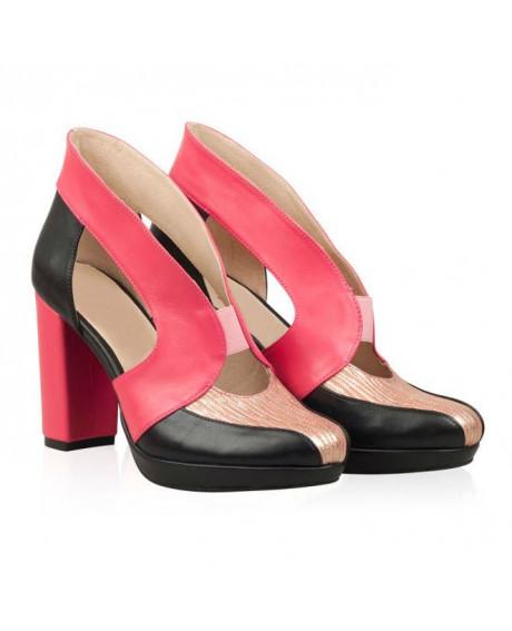 Pantofi Penelope din piele naturala N200 - sau Orice Culoare