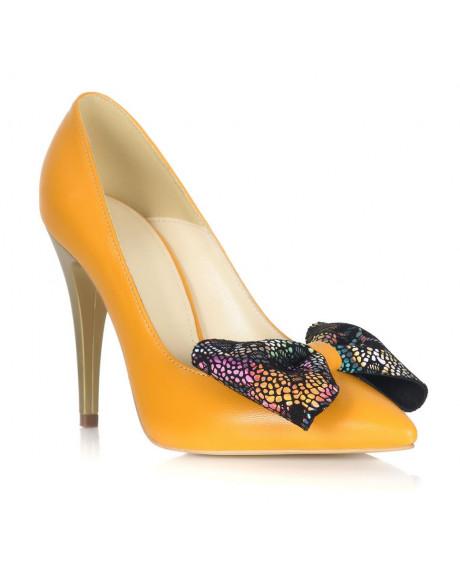 Pantofi galbeni din piele naturala Eclipse L55