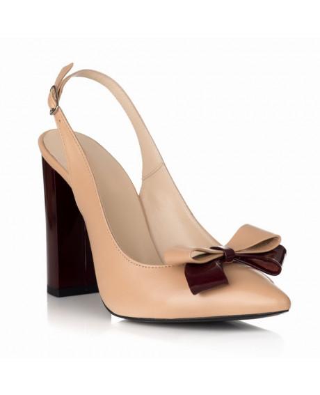 Pantofi Kamelia din piele naturala S28