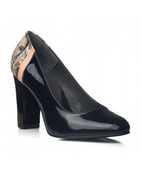 Pantofi din piele naturala Black Antonia V11 - marimea 39