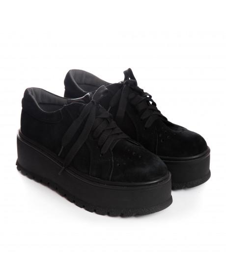 Pantofi negri din piele naturala Margo V15