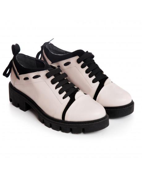 Pantofi piele tip Oxford Stefy V77