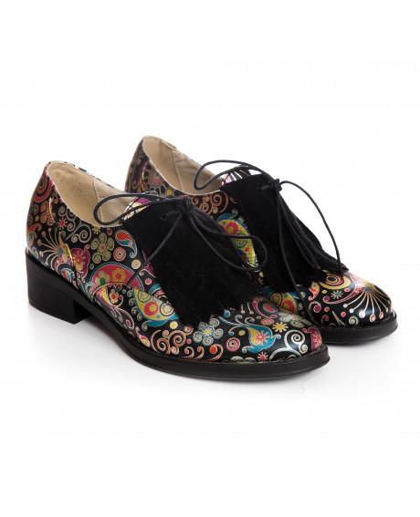 Pantofi multicolori tip Oxford, Sara V105