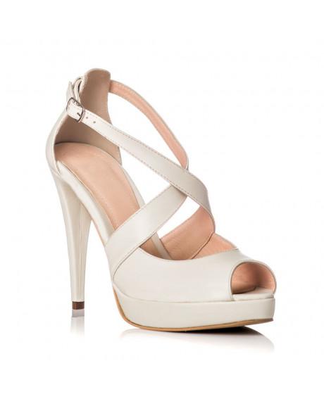 Pantofi Royal White din piele naturala G1AF  - sau Orice Culoare