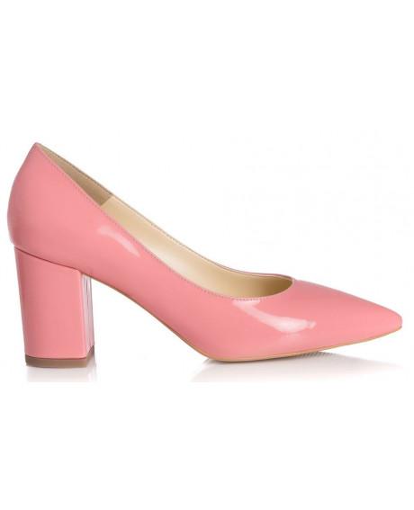Pantofi Rosa din piele naturala L90
