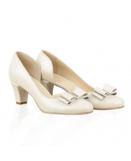 Pantofi mireasa Elisa decupat N07