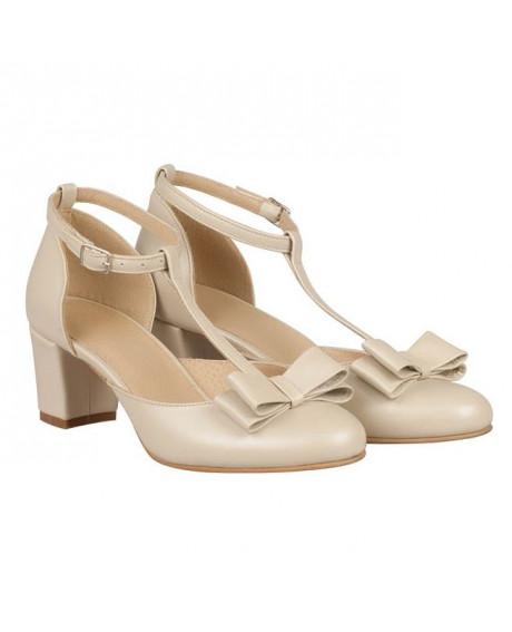 Pantofi dama Rita bej N100 - sau Orice Culoare